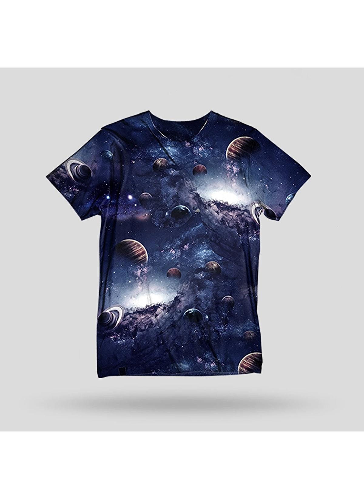 John Frank Tişört Jftd22-deep Baskılı Dijital T-shirt – 79.99 TL
